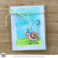 Week moving at a snail's pace? Let's get over the hump together! #averyellestamps #snail #watercolor #wednesday