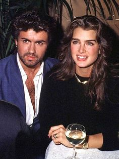 Brooke Shields and George Michael