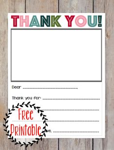 FREE printable Christmas thank you note for kids!