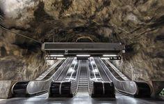 A Photo Tour Stockholm's 'World's Longest Art Exhibition' Metro Station Art