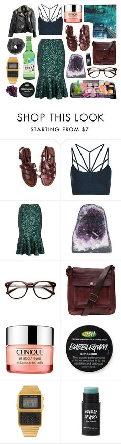 """mermaid"" by princessgeek86 ❤ liked on Polyvore featuring Sweaty Betty, French Connection, Jonathan Adler, Campomaggi, Clinique, American Apparel and DK"