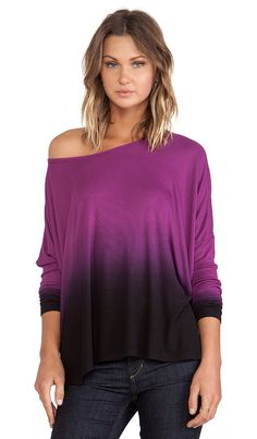off the shoulder ombre top