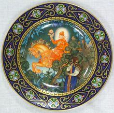 Mettlach Villeroy & Boch German porcelain Russian fairy tales plate.