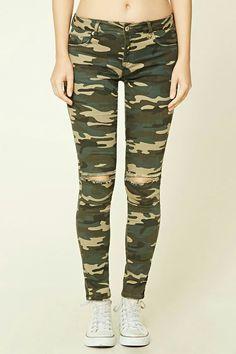 Verde Militar camuflado calça