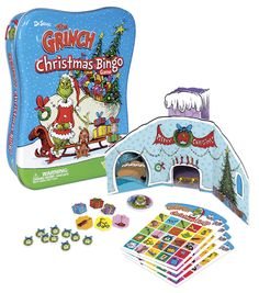 Grinch Bingo, included in-Super Grinch Sack Grand Prize pack (1 winner), Cindy-Lou's Stocking prize pack (3 winners) Sign up here before December 15 for a chance to win: http://www.facebook.com/WonderForge/app_194975693850063 #giveaway #holiday #prizes #DrSeuss #Grinch