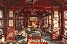 A Living Room in Yu Garden, Shanghai photo by William Yu Ancient Chinese Architecture, Asian Architecture, Interior Architecture, Old Shanghai, Archi Design, Chinese Furniture, Asian Decor, Ancient China, Restaurant Design