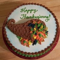Just a Thanksgiving cake I did for a customer.  12