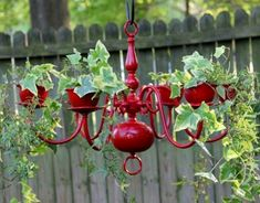 Wondering if a chandelier planter would be cool in back yard hanging over a bench??