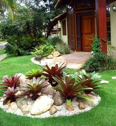 Amazing Front Yard Rock Garden Landscaping Ideas - Page 15 of 67 Landscaping Supplies, Front Yard Landscaping, Backyard Landscaping, Landscaping Ideas, Backyard Ideas, Backyard Garden Design, Garden Landscape Design, Landscape Plans, Rustic Backyard