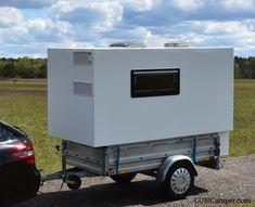 DIY Mini Camper – Mini Wohnwagen – Absetzkabine – Tear Drop Wohnwagen CUBICampe… - Everything About Caravan Truck Camper, Camper Diy, Build A Camper, Mini Camper, Homemade Camper, Pickup Camper, Camper Caravan, Camping Trailer Diy, Cargo Trailer Camper