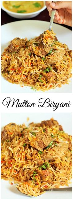 Easy and Delcious Traditional Mutton biryani Lamb Biryani Recipes, Beef Biryani Recipe, Best Mutton Biryani Recipe, Lamb Recipes, Curry Recipes, Easy Chicken Biryani Recipe, Spicy Recipes, Cooking Recipes, Carne