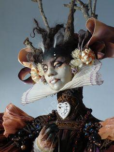 Ah - Virginie Ropars - her work is so interesting. Ooak Dolls, Art Dolls, Soft Sculpture, Sculptures, 3d Figures, Mystique, Paperclay, Creepy Dolls, Creature Design