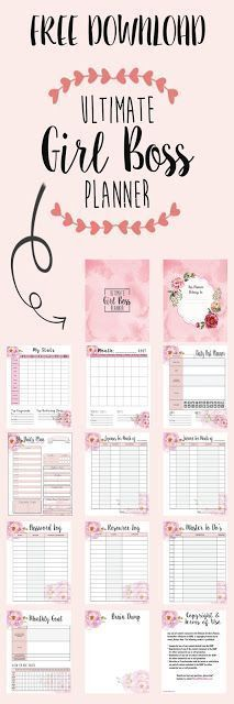 Free Printable Pink Planner Pages For Any Year - free printable guest list