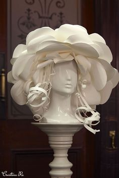 https://www.facebook.com/cristinaredesign #Stunning #papercouture #headpieces…