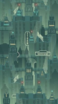 Underwater City - Pixel art video game unused background concept inspired by Bioshock& Rapture Bioshock Rapture, Art Bioshock, Bioshock Infinite, Pixel Art Background, Game Background, 2d Game Art, Video Game Art, Underwater City, Pixel Art Games