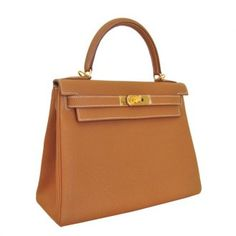 Hermes Kelly 28cm In Sewing Gold Togo Gold Hardware