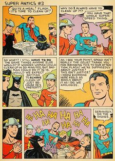 Dinnertime at the Justice League of America