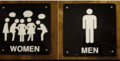 Designers create unusual, beautiful, and funny things from scratch. Of course, they couldn't forget about toilet signs. Bright Side publishes the best toilet signs which might actually make you forget why you are here. Bathroom Humor, Bathroom Signs, Restroom Signs, Gender Signs, Diy Tea Bags, Container Restaurant, Restaurant Bathroom, Toilet Design, Best Bath