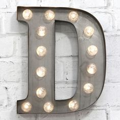 "Carnival Letter Lights - Silver 13"""