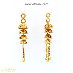 New Arrivals - Latest gold and diamond jewelry collection - Totaram Jewelers Online Gold Temple Jewellery, Gold Jewelry, Women Jewelry, Diamond Jewelry, Gold Chandelier Earrings, Gold Drop Earrings, Dangle Earrings, Gold Earrings Designs, Jewelry Gifts