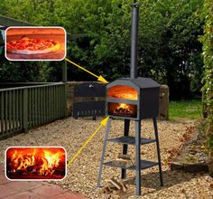 New Pizza Oven BBQ Barbecue Grill Patio Outdoor Garden Heating Heat Smoker | eBay