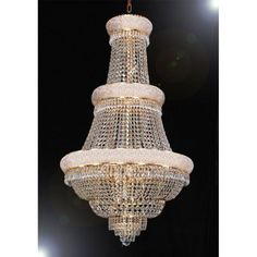 Harrison Lane French Empire Crystal T40-430 Chandelier - T40-430