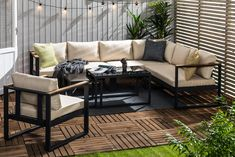 Bullerö Loungegruppe - Svart/Teak | Trademax.no Outdoor Sectional, Sectional Sofa, Outdoor Furniture, Outdoor Decor, Teak, Exterior, Garden, Home Decor, Homemade Home Decor