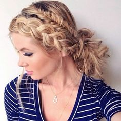 Beautiful Messy Fishtail Updo Hairstyles 2016-17
