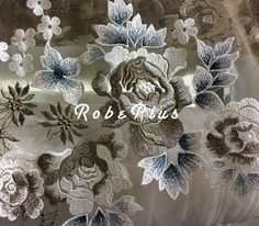 £61.45 Schiffli Lace - Floral Embroidery Tulle Lace Fabric - Tulle Embroidered Lace Fabric - Floral Embroidered Lace Fabric - Colorful Lace Fabric  Premium floral lace  Price listed is for 1 yard Fabric Breadth (Width): 1.2 Yard   ========================