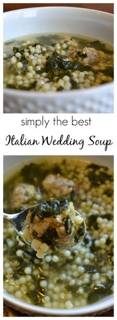 combined several recipes to create the world's best Italian Wedding Soup (according to my family).I combined several recipes to create the world's best Italian Wedding Soup (according to my family). I Love Food, Good Food, Yummy Food, Italian Wedding Soup Recipe, Italian Soup Recipes, Italian Foods, Italian Cooking, Recipes Dinner, Simple Italian Recipes