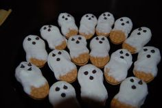 Nutter Butter Cookie Ghosts