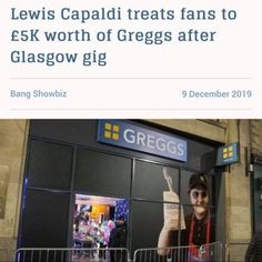 Lewis Capaldi Afterparty, Greggs @ Panoptic Events Greggs, Glasgow, Broadway Shows, Events