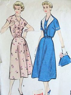 1950 Dress Patterns | home vintage patterns 1950s 1950s dress bolero jacket pattern pretty ...