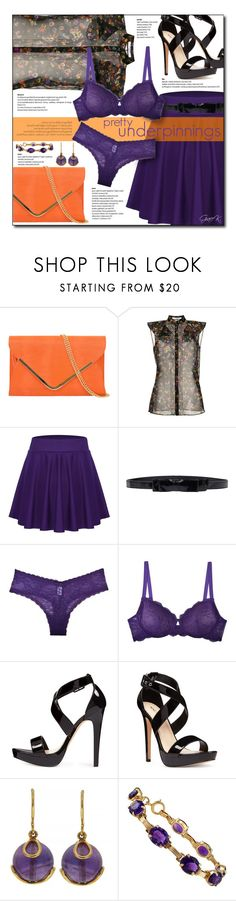 """#prettyunderpinnings"" by gracekathryn ❤ liked on Polyvore featuring Givenchy, RED Valentino, Cosabella, Nine West, Valentin Magro, fashionset and womensFashion"