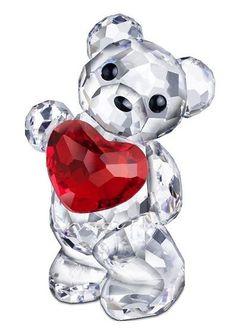 Kris Bear A Heart For You.  Swarovski Crystal Figurine.