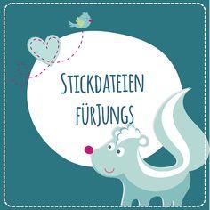 coole Stickdateien für Jungs findet ihr bei Sticktier. Doodle, Embroidery, Diy, Embroidery Patterns Free, Small Gifts, Appliques, Guys, Handarbeit, Projects