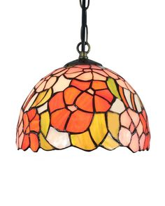 This fashionable jeweled Tiffany style ceiling light contains a sturdy base and a  quality stained glass shade. These hundreds of pieces of stained glass are hand assembled by utilizing the copper foil technique developed by Louis Comfort Tiffany in the early 1900s. Not only does this incredible ceiling light helps driving away the shadows by casting a warm glow, it also has decorative values.