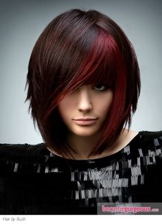 Maybe i need something crazy like this? brunette hair with red highlights