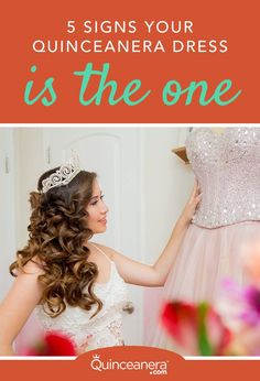 Shopping for your quinceanera dress is one of the most stressful things on your to-do list. Here are 5 signs to know if your quinceanera dress is the one. Quinceanera Planning, Pretty Quinceanera Dresses, Quinceanera Themes, Wedding Dresses, Sweet 16 Invitations, Invitation Cards, Party Invitations, Quince Dresses, Princess Hairstyles