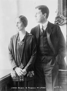 Crown Prince Gustaf Adolf of Sweden and Lady Louise Mountbatten