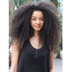 Availability: In stock Hair Material : Human Hair Hair Texture : Afro Kinky Curly Hair Color : Package Contents : Long hair in 5 minutes--a comple Kinky Curly Hair, Curly Girl, Curly Hair Styles, Natural Hair Styles, Big Natural Hair, Natural Girls, Natural Women, Twisted Hair, New York Beauty