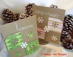 Bright Christmas Handmade Christmas Card Pair  | APENNY4URTHOUGHTS - Cards on ArtFire