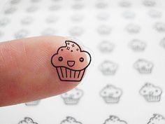 Cupcake Planner Stickers - Cupcake Stickers - Smiley Face - Happy Planner Stickers - Erin Condren Planner Stickers - Transparent (st149#) by CENTERPATCH on Etsy