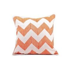 Orange Chevron Pillow