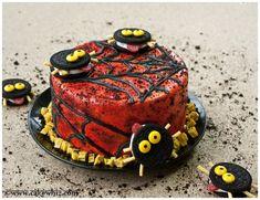 Ideias de decoração para festas de Halloween: bolo de aranhas!