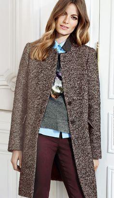 Lookbook - La vie en rose Combinaison couleur pantalon, chemise et pull gris
