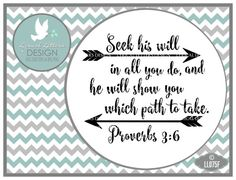 Seek His Will In all you Do Proverbs 3:6 LL075 F by lyricalletters