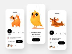 User Interface and user experience Design Inspiration : Every day most digital designers look for inspiration on sources like Dribbble or Behance . App Design, Ui Design Mobile, Dashboard Design, Delivery App, User Experience Design, Customer Experience, Snoopy Love, User Interface Design, Pet Care