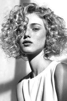 Curly hair B&W
