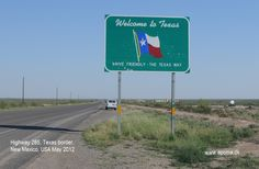 Highway 285, Texas border, New Mexico, USA May 2012